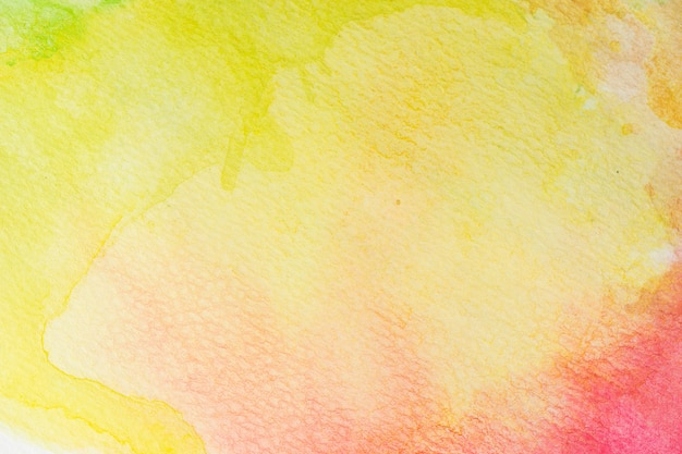 Abstrakter grüner, gelber, orange und roter rosen-aquarellhintergrund. kunst handfarbe