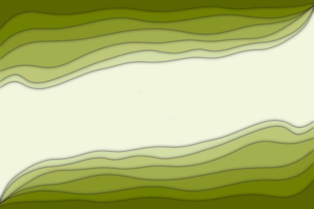 Abstrakter grüner papierschnitteffekt des farbverlaufs mit kopienraumhintergrund