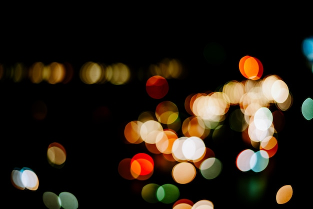Abstrakter heller bokeh-hintergrund, unschärfe bunter bokeh lichthintergrund