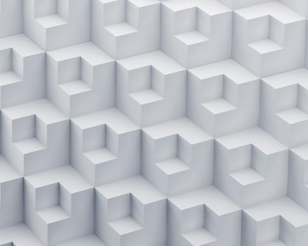 Abstrakter hintergrund 3d des weißen polygons.