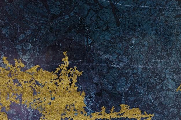 Abstrakter hintergrund aus gold und blauem marmor