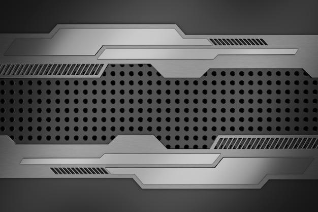 Abstrakter hintergrund aus metall. 3d-rendering.