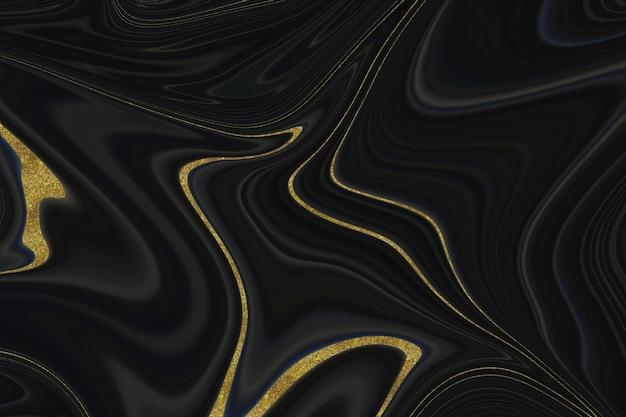 Abstrakter hintergrund aus schwarzem und goldenem marmor