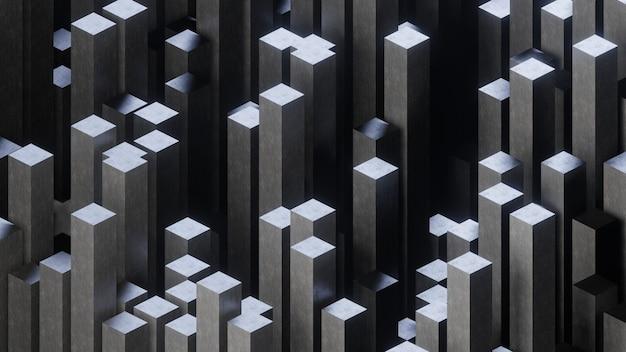 Abstrakter hintergrund aus würfeln. isometrische 3d-darstellung.