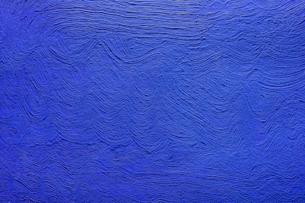 Abstrakter hintergrund der blauen farbe von acrylfarben. konkreter hintergrund.