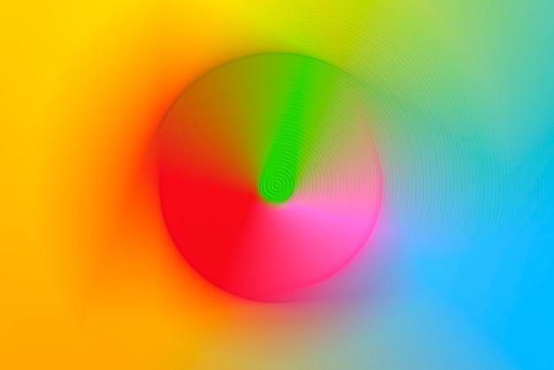 Abstrakter hintergrund der bunten drehbeschleunigungs-kreis-radialbewegungsunschärfe.