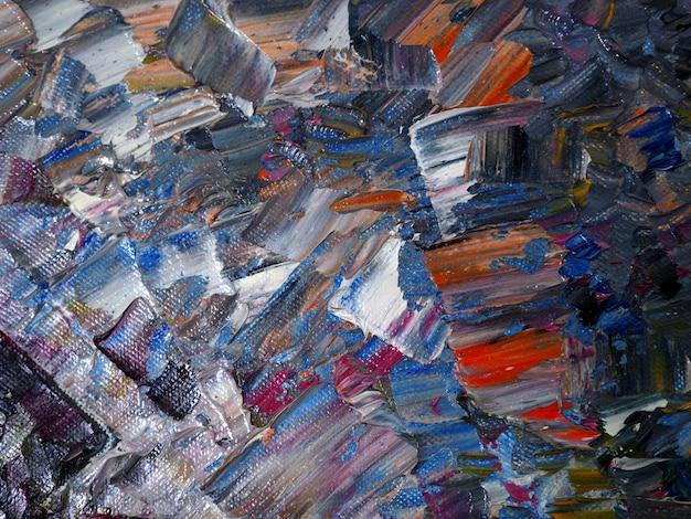 Abstrakter hintergrund der bunten malerei des handabgehobenen betrages mit beschaffenheit.