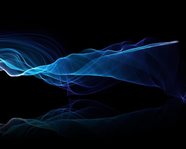 Abstrakter hintergrund der elektrischen blauen fließenden wellen