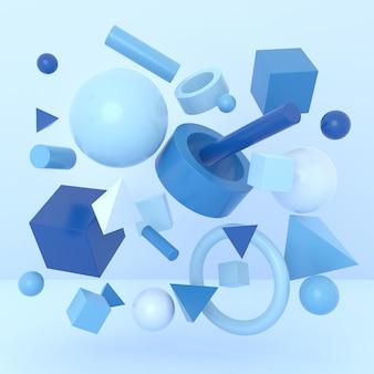Abstrakter hintergrund der geometrischen form. 3d-rendering.