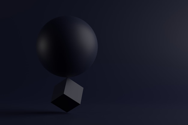 Abstrakter hintergrund der geometrischen formen. 3d-rendering.