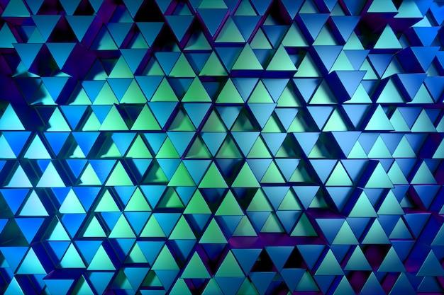 Abstrakter hintergrund der glänzenden dreiecke des metalls