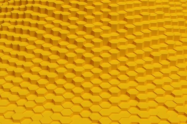 Abstrakter hintergrund der goldenen sechsecke. geometrisches muster.
