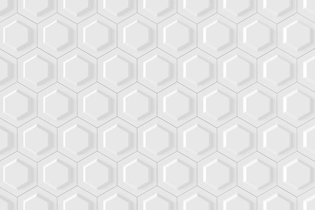 Abstrakter hintergrund der hexagonform. 3d-rendering.