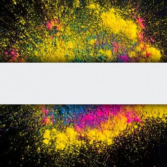 Abstrakter hintergrund der holi farbexplosion