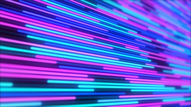 Abstrakter hintergrund der leuchtenden neonlinien