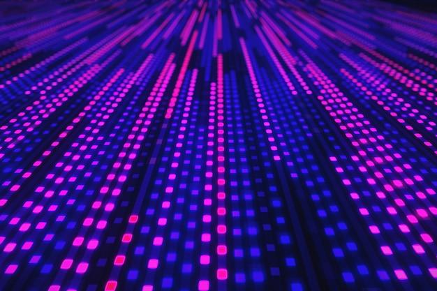 Abstrakter hintergrund der leuchtenden neonquadrate