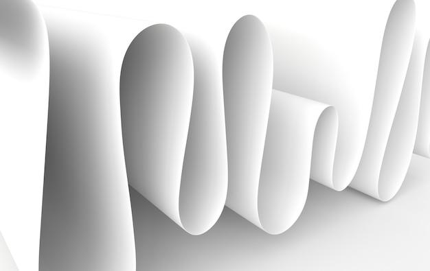 Abstrakter hintergrund der modernen papierkunst, 3d rendern papierwellen