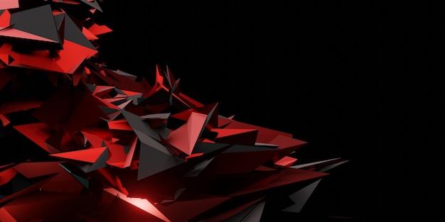 Abstrakter hintergrund der modernen technologie futuristisches gaming social media banner vorlage 3d