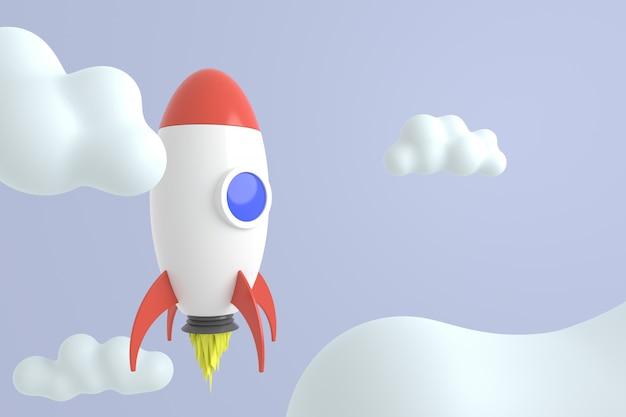 Abstrakter hintergrund der rakete