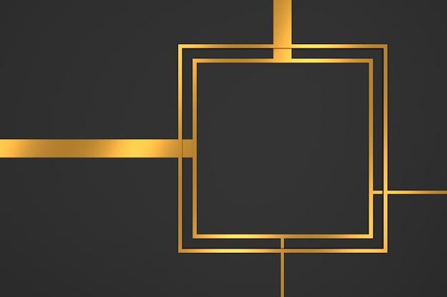 Abstrakter hintergrund der rechteckform mit luxuskonzepten. 3d-rendering.