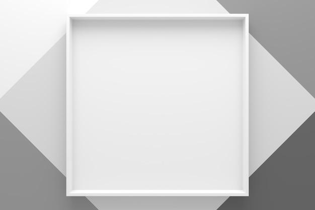 Abstrakter hintergrund der rechteckformablage. 3d-rendering.