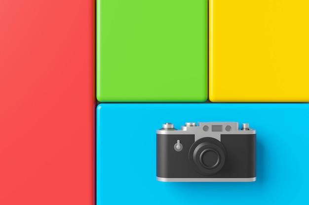 Abstrakter hintergrund der retro- kamera. 3d-rendering.