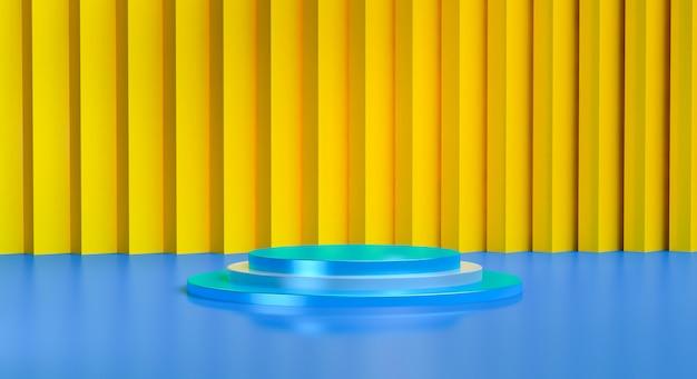 Abstrakter hintergrund der ursprünglichen geometrischen formen, pastellfarben, 3d übertragen.