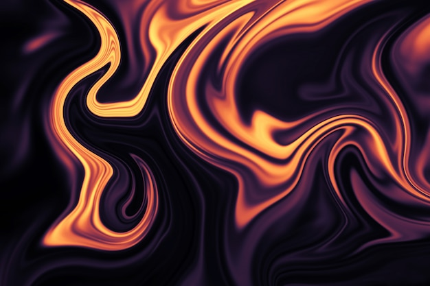 Abstrakter hintergrund des bunten flüssigen liners. abstrakte textur von flüssigem acryl.