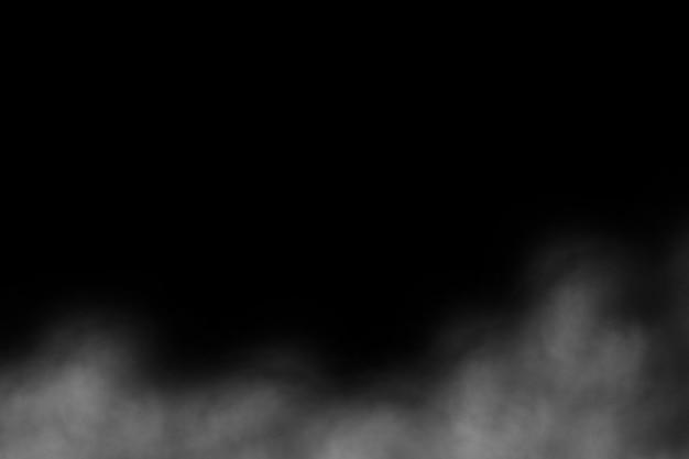 Abstrakter hintergrund des rauches auf schwarzem hintergrund