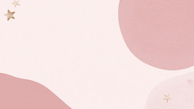 Abstrakter hintergrund des rosa sterns mit goldelementen