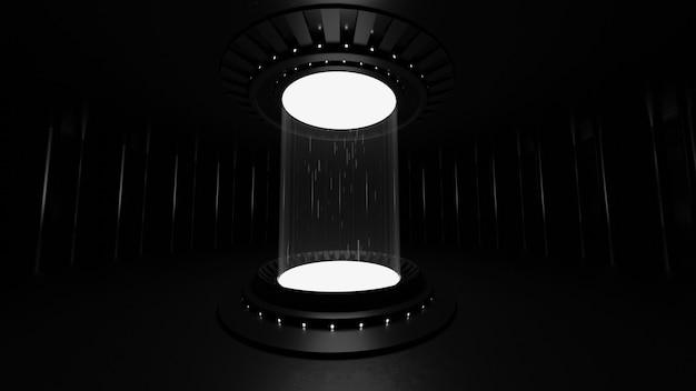 Abstrakter hintergrund, ein zeitmaschinenkonzept, um ein objekt durch die zeit zu bewegen