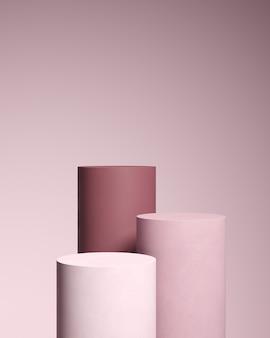 Abstrakter hintergrund für produktbranding. mock-up-szene mit leerem raum. 3d-rendering