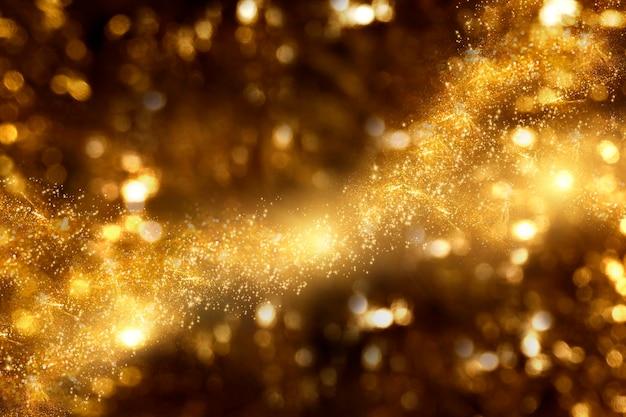 Abstrakter hintergrund, goldener glanz für premiumprodukt