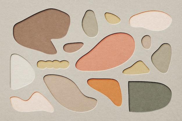 Abstrakter hintergrund im papercraft-ausschnittstil