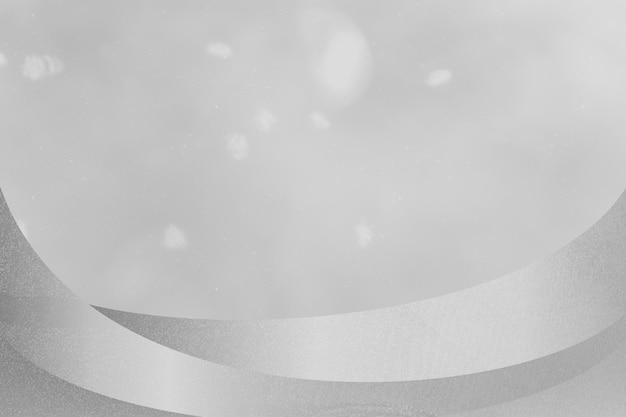 Abstrakter hintergrund in gedämpftem grau mit metallischem rand