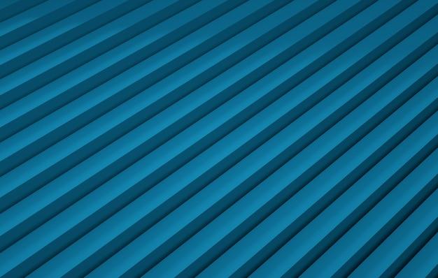 Abstrakter hintergrund mit blauen streifenlinien d render