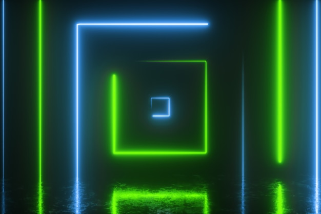 Abstrakter hintergrund mit bunten neonquadraten