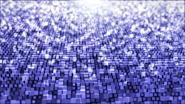 Abstrakter hintergrund mit dem quadrat hellpurpurn und weiß.