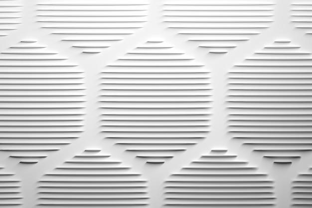Abstrakter hintergrund mit den weißen stilvollen und modernen extragroßen sechseckigen formen gemacht von den spitzen rohren. abbildung 3d.