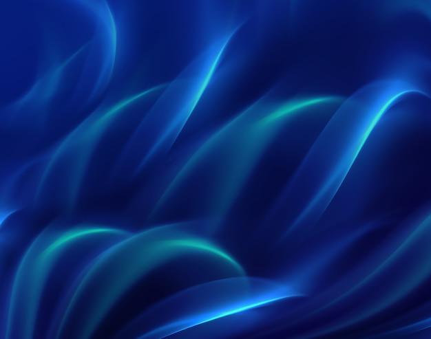 Abstrakter hintergrund mit glänzenden blauen wellen