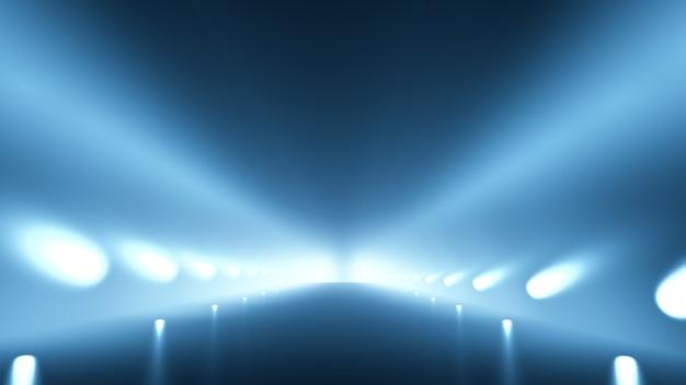 Abstrakter hintergrund mit glühen und straße. 3d-illustration, 3d-rendering.