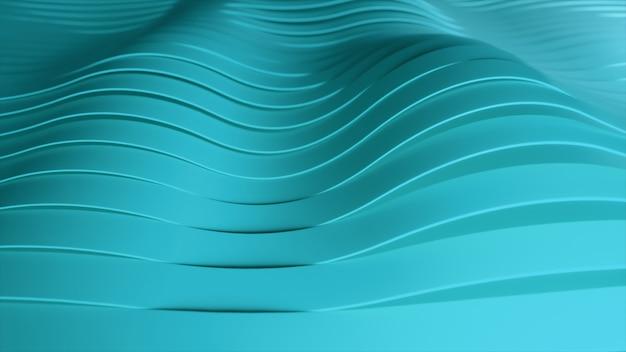 Abstrakter hintergrund mit grünen wellenstreifen