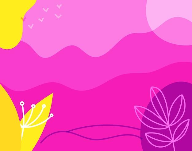 Abstrakter hintergrund mit handgezeichneten geometrischen farbformen