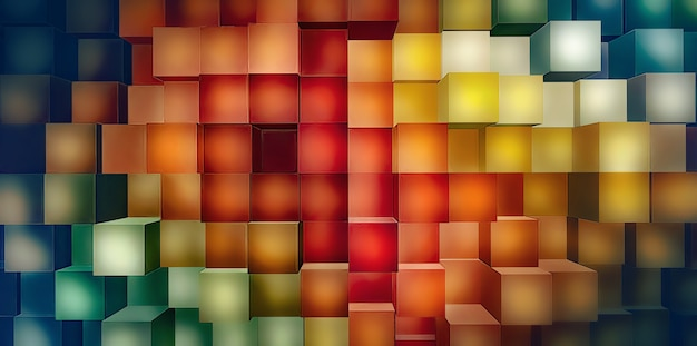 Abstrakter hintergrund mit hellen bunten quadraten im vollbildmodus