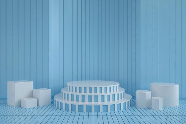 Abstrakter hintergrund mit leichtem podium für produktstand