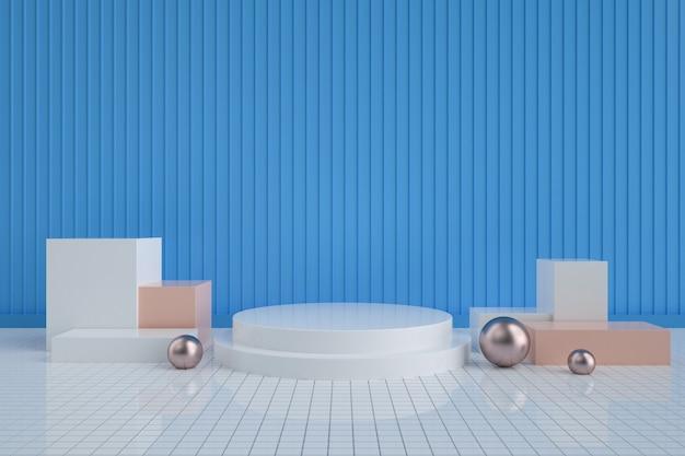 Abstrakter hintergrund mit podium für produktstand