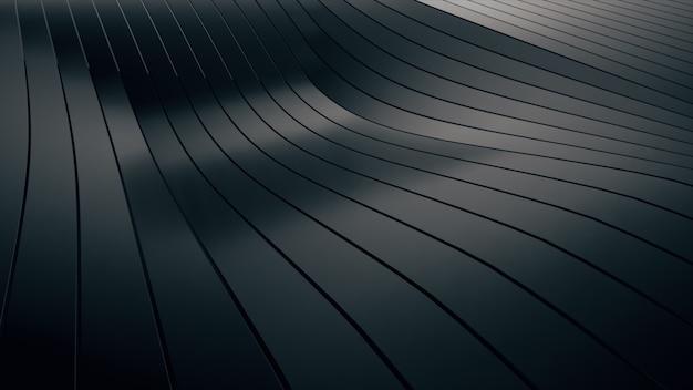 Abstrakter hintergrund mit schwarzen wellenstreifen