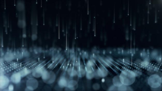 Abstrakter hintergrund mit sich bewegenden und flackernden partikeln