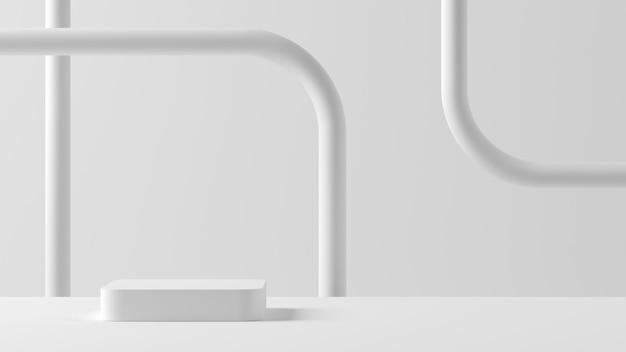 Abstrakter hintergrund, mock-up-szene mit podium für produktanzeige. 3d-rendering