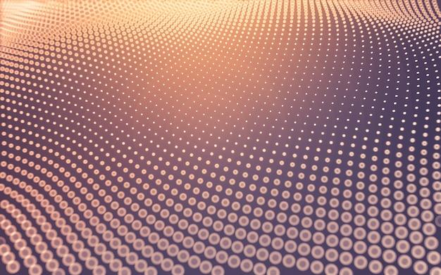 Abstrakter hintergrund. molekültechnologie mit polygonalen formen, die punkte und linien verbinden. verbindungsstruktur. big data-visualisierung.